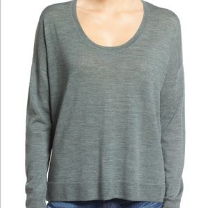 Madewell South Star Green Wool Blend Pullover